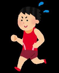マラソンする男性